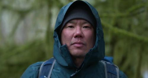 Man wearing Marmot jacket.